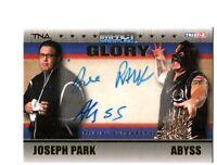 TNA Joseph Park & Abyss 2013 GLORY GOLD Dual Autograph Card SN 9 of 99