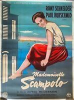 Plakat Mademoiselle Scampolo Paul Hubschmid Romy Schneider 120x160cm