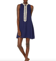 New Lilly Pulitzer Jane Shift Dress True Navy Size 8 (Reg $198) NWT