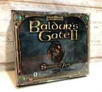 Baldur's Gate II 2 Shadows Of Amn (2000) Game Small Box PC Complete Mint Discs