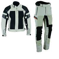 Herren Motorrad Textil Jacke und Hose zwei teile Herren Motorrad Kombi Grau Neu