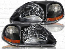 Fit For 96-98 HONDA CIVIC LX EX DX JDM BLACK HEADLIGHTS