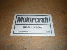 1972 1973 1974 FORD GALAXIE LTD THUNDERBIRD ELITE MOTORCRAFT VOLTAGE REG DECAL