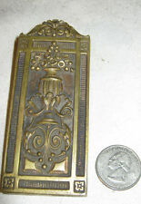 Antique Architectural Art Nouveau Bradley & Hubbard Bronze Desk Art Paper Clip