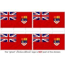 "CANADA Red Ensign Drapeau 50 mm (2"") Pare-choc Casque Autocollants Decals x4"