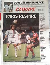 L'Equipe Journal 21/9/2003; Paris respire/ L'OM se défend/ Arsenal/ Rossi/ Marsh