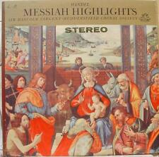 SIR MALCOLM SARGENT handel messiah highlights LP VG+ S 35830 Angel USA Stereo