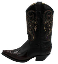 Men's Genuine Leather Cowboy Western Boots Style Alfanzo