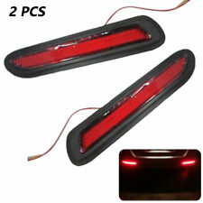 12V 2PCS Red Lens LED Car Rear Bumper Reflectors Taillight Drive Brake Fog Light