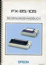 EPSON FX-85/105 BEDIENUNGSHANDBUCH