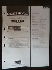 Original Service Manual Sansui Stereo Cassette Deck D-35BF