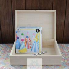 Scatola in legno A5 documento caso coperchio a battente semplice legno Memory Box Portaoggetti PZ233