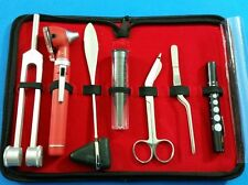 RED LED FIBER OPTIC Otoscope Tuning Fork C128 Reflex Hammer Bandage Scissors