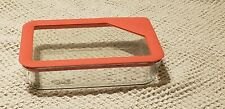 NEW Pyrex Ultimate 3-cup Rectangle Glass Silicone Food Storage Container Red Lid
