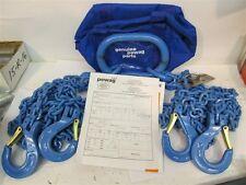 Pewag 7G120QOS/10, 10' G120 Chain Sling, Oblong Link & 4 Sling Hooks