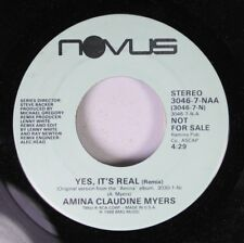 Rock Promo 45 Amina Claudine Myers - Yes, It'S Real (Remix) / Yes, It'S Real (Re