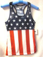 Exist Miami 1995 Women's NWT Sz L Tank Top Red White & Blue Flag USA