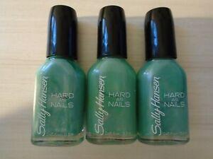 Sally Hansen - Nail Polish - Hard As Nails - 645 Mighty Mint (3-Pack) *FREE S/H*