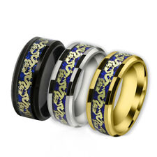Men's Wedding Band Ring New Trend Fashion Celtic Dragon Titanium Stainless Steel