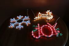 Enchanted Forest Christmas Lighted Window Decorations Reindeer, Joy & Snowflake