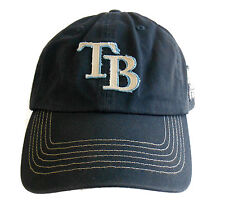 TAMPA BAY DEVIL RAYS Baseball Hat Cap ESTABLISHED 1998 Distressed Blue T.EI OFSA