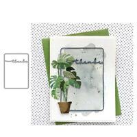 Stanzschablone thanks Rahmen Hochzeit Weihnachts Oster Geburstag Karte Album