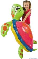 GIANT 5 FOOT INFLATABLE SEA TURTLE - Birthday Party Pool Blow up toy + 1 Million