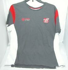 Haas F1 Team T-Shirt XL Gray Red Formula 1 Racing Short Sleeve Pirelli London