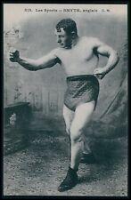 Boxing Sports Smyth UK England boxer original 1920s postcard