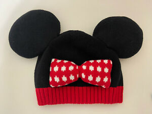 Hanna Andersson Disney Collection Minnie Mouse Knit Hat Beanie SZ Large 6-12 Yrs