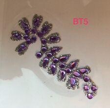 INDIAN Bollywood Designer diamante cristalli Bindi Body gioiello Festa Tatuaggio; Lilla
