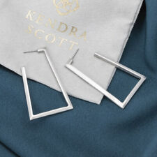 NEW Kendra Scott Easton Hoop Earrings In Silver