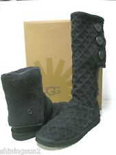 Ugg Lattice Cardy Black Women Boots US6/UK4.5/EU37/JP23
