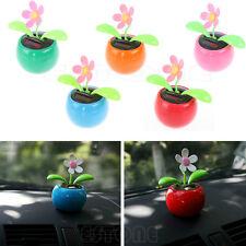 Solar Powered Flip Flap Flower Flowerpot Swing Dancing Toy For Cars Office Home