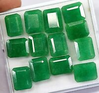 Natural 130 Ct Fine Cut Colombian Green Emerald Best Loose Gemstone 13 Pcs Lot