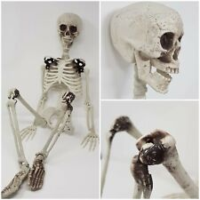 90cm Poseable Human Skeleton Halloween Decoration Skull Hanging Party Dead Pose
