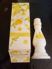 Avon Candlestick Holder~1970'S~Butter cup~Moonwind~Full Bottle With Box