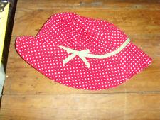 Gymboree size 6-12 mo red polka dot sun hat w/ chin strap baby girl 2013 summer