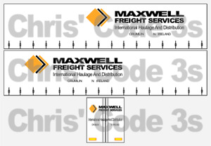Code 3 Adhesive Vinyl Trailer Decal - Maxwell Freight - 1/50 1/76 1/148