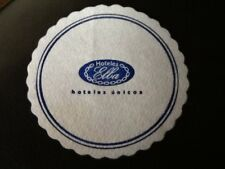 COLLECTABLE HOTEL COASTER . ELBA HOTELS.  PAPER DRINKS COASTER / MAT . RARE
