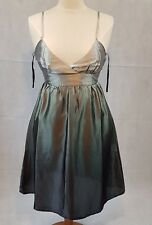 'Soaked In Luxury' Satin Ombre Dip Dye Dress NWT. Spaghetti Straps, Empire Line