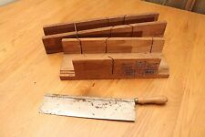Vintage Miter Box Saw and Two Miter Boxes Tools Useful Mid Century Modern