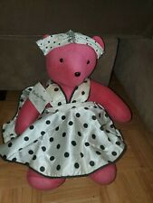 Vintage North American Bear Co. Vanderbear Bearilyn Monroe Pink Plush Isenberg