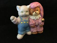 Vintage Lucy & Me Ruffles & Birthday Bear Double Figurine Enesco Lucy Rigg 1988