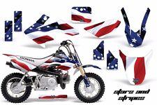 AMR Racing Honda Graphic Kit Bike Decal CRF 50 Decal MX Parts 2014-2017 USA FLAG