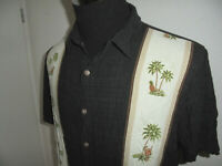 vintage BATIK BAY Hemd crazy pattern hawaii hippie gemustert 80`s shirt XL