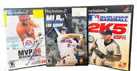 PS2 BASEBALL MLB 2K5, The SHOW 07, NCAA MVP 06 (No Manual) PlayStation 2, 3 Game