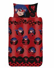 NEW MIRACULOUS ROTARY 'LADY BUG' SINGLE DUVET QUILT COVER KIDS BEDROOM