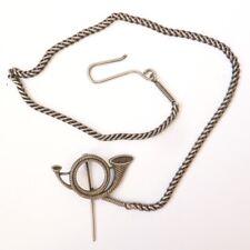 Chaine de chasse à courre argent massif bijou ancien vénerie cor silver chain