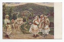 RUSSIE Russia Théme Types russes costumes personnages femmes enfant promenade
